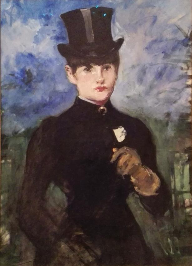 Édouard Manet - Horsewoman, Full-Face 1882 - Musseum Thyssen-Bornemisza.jpg