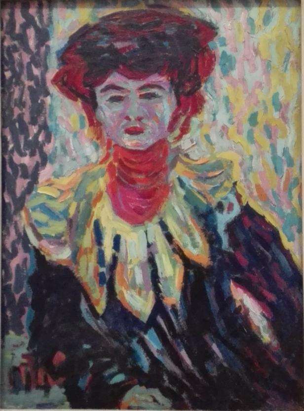 Ernst Ludwig Kirchener - Doris with Ruff Collar - Doris con cuello Alto - 1906.jpg