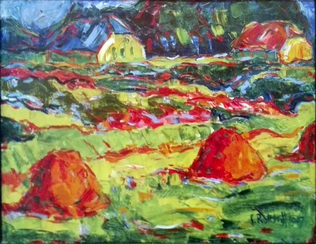 Karl Schmidt-Rottluff - Autumn Lanscape in Oldenburg - 1907.jpg
