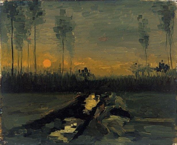 Vicent van Gogh - Evening Landscape - 1885 - Musseum Thyssen-Bornemisza.jpg