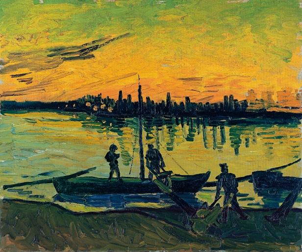 Vincent van GOGH - Los descargadores en Arles, 1888_557 (1965.7)